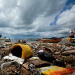 Vermüllter Strand auf Bali